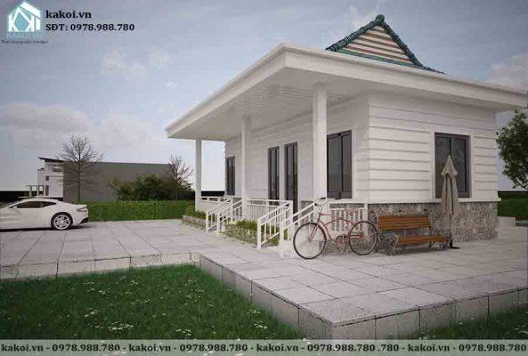 Mẫu nhà ở nông thôn giá rẻ chi phí 200 triệu KKNC4043 1 phòng ngủ