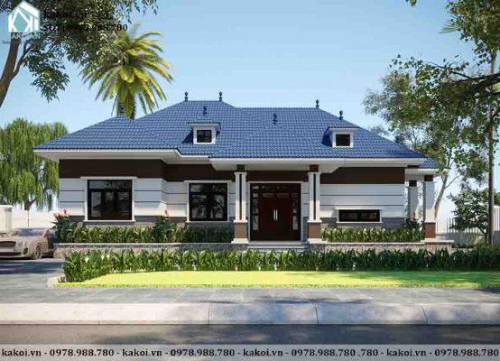 Mẫu nhà ở cấp 4 nông thôn phong cách hiện đại mái Nhật KKNC4069