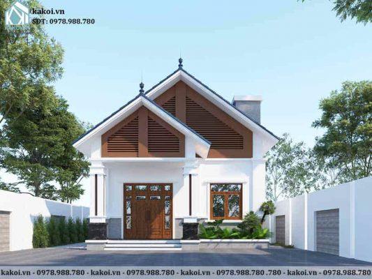 Mẫu thiết kế nhà cấp 4 8x10m 2 phòng ngủ chi phí hợp lý KKNC4057